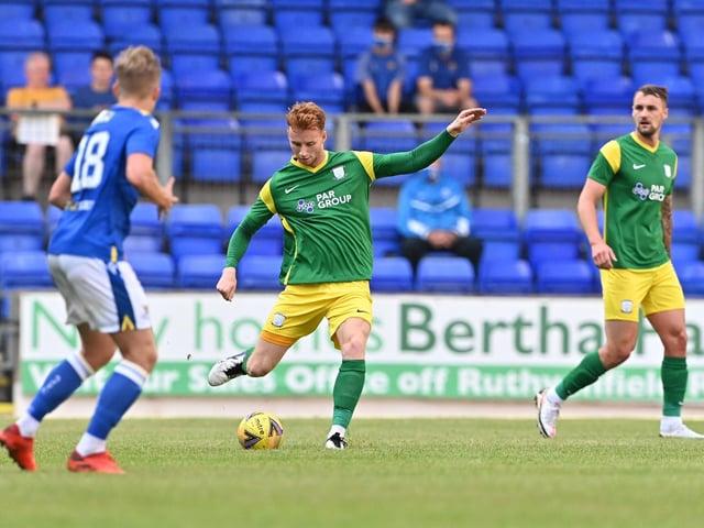 Preston North End defender Sepp van den Berg in action against St Johnstone  Pic: PNE