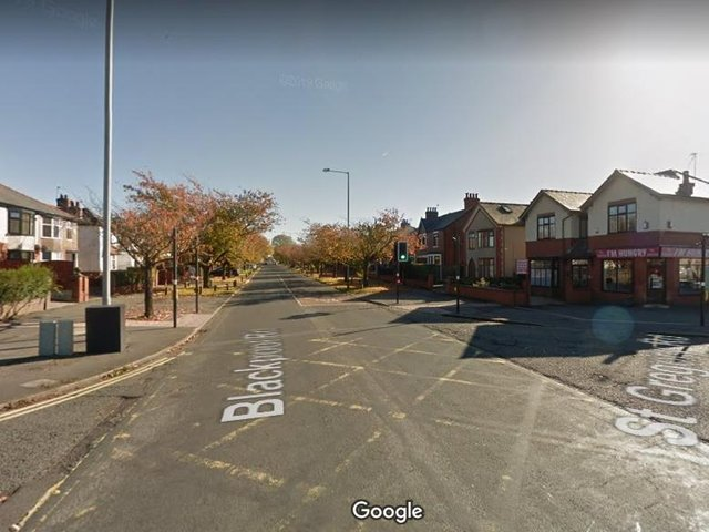 The junction of Blackpool Road and St Gregory Road, Preston