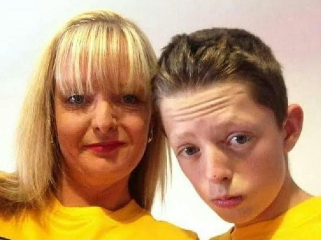Teenager Dylan Crossey with mum Tracey who has waited more than 5 years for an inquest into his death