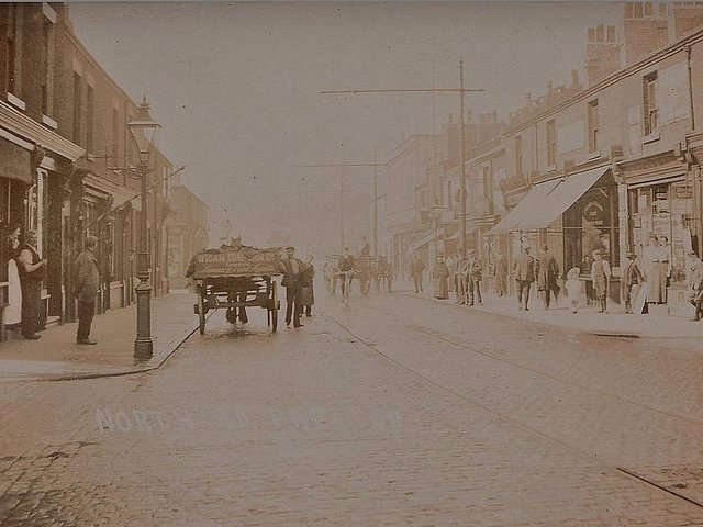 A bustling North Road circa 1910 where Sarah Magee dropped dead