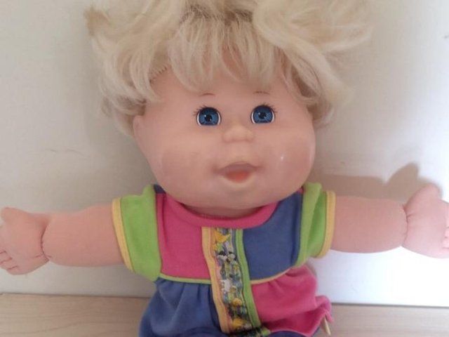 This Cabbage Patch doll has clearly been loved, but still has plenty of hugs left in them