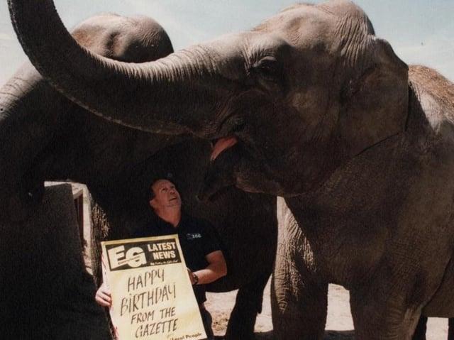 The Gazette wishes one of Blackpool Zoo's elephants a happy birthday