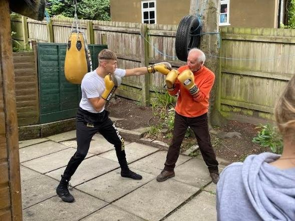 Put 'em up lad . . . it's time for some real sparring.