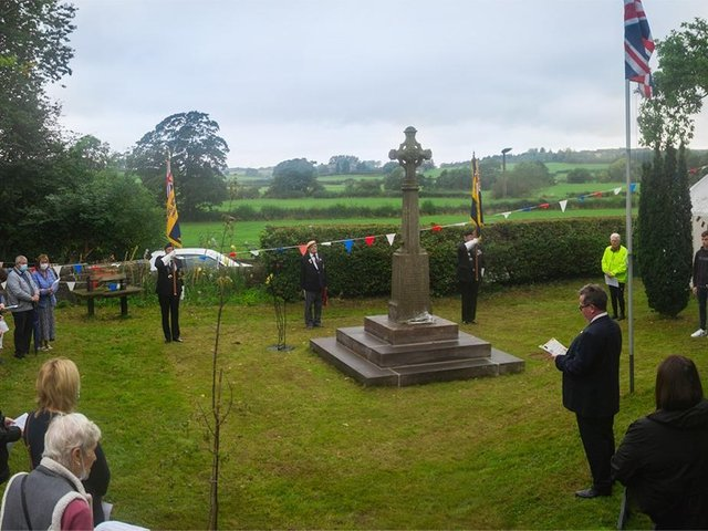 The Archdeacon of Lancaster came to Galgate rededicate the war memorial in a moving and traditional service.
