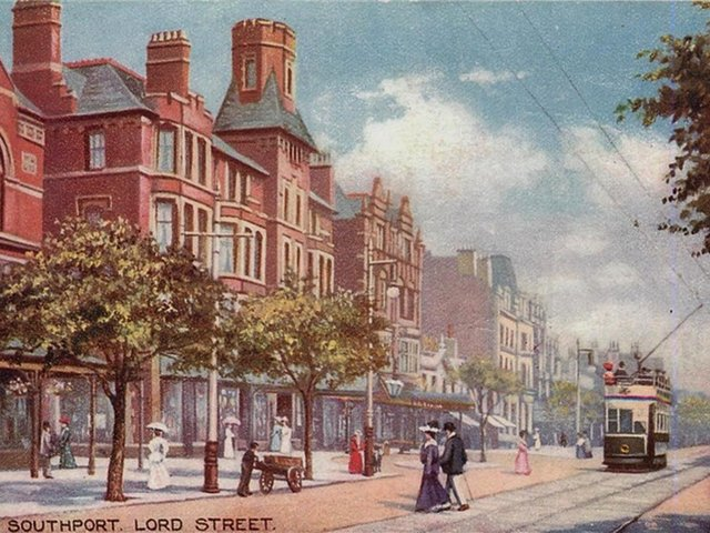 Lord Street, Souhport, where Humber worked as a bank clerk