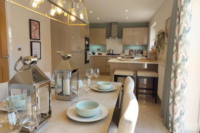 The kitchen of the Hesketh Reach Bayswater show home.
