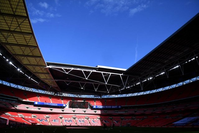 Wembley Stadium. (Photo by Neil Hall - Pool/Getty Images)